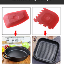 Grill Scrapers Cleaning-Oil Cookware Hot-Handle-Holder Kitchen Silicone Pan 2 with Durable