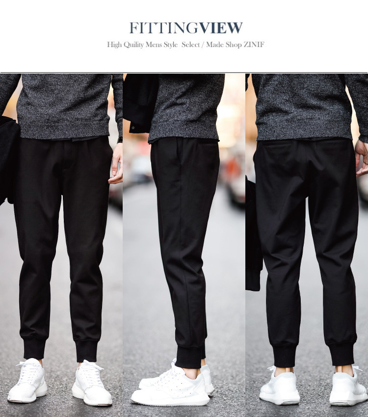 Stall Harem Pants Men Ankle Banded Pants Casual Skinny Athletic Pants Men's Loose-Fit Sweatpants Long Pants Fashion