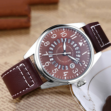 Luxury Brand Mens Pilot Watches reloj hombre Men Calendar Waterproof Watch Man Casual Sports Military Leather Belt Wrist