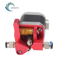 KingRoon Aluminum Upgrade Dual Gear mk8 Extruder Kit for CR 10S RepRap 1.75mm 3D PRINTER Feed Double pulley Extruder|3D Printer Parts & Accessories| |  -