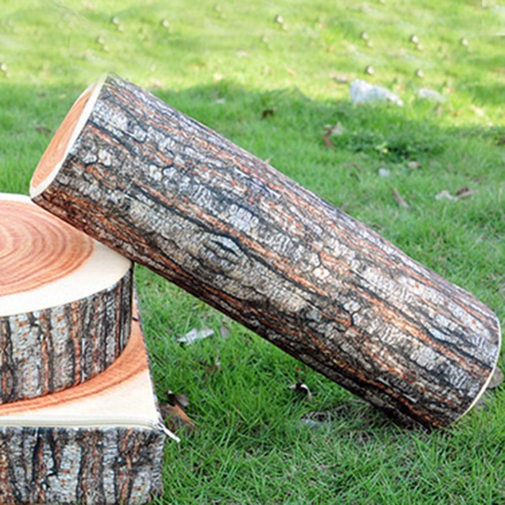 Creative Wood Stump Shaped Throw Pillow Office Sofa Car Comfortable Cushion