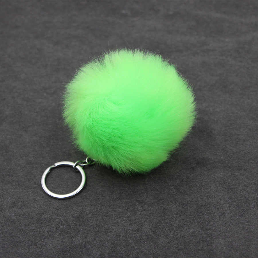 1pcs Laranja Bola de Pelúcia Chaveiro De Pelúcia Simples Bola Pompom Pompom Pingente Animais Artificial Brinquedo Mulher Saco Carro Chaveiro Chaveiros