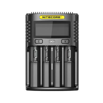 NITECORE UMS4 inteligentna ładowarka USB z czterema gniazdami ładowarka z ekranem OLED tanie i dobre opinie kieszonkowe narzędzia uniwersalne CCC CE RoHS DC 5V 2A 12V 1 5A 18W (MAX) Charging batteries