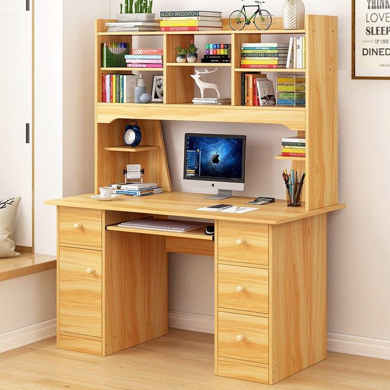 VIP Desktop Table Desk Bookshelf Combination One-piece Simple Multi-functional Household Table Bedroom Simplicity Writing Desk