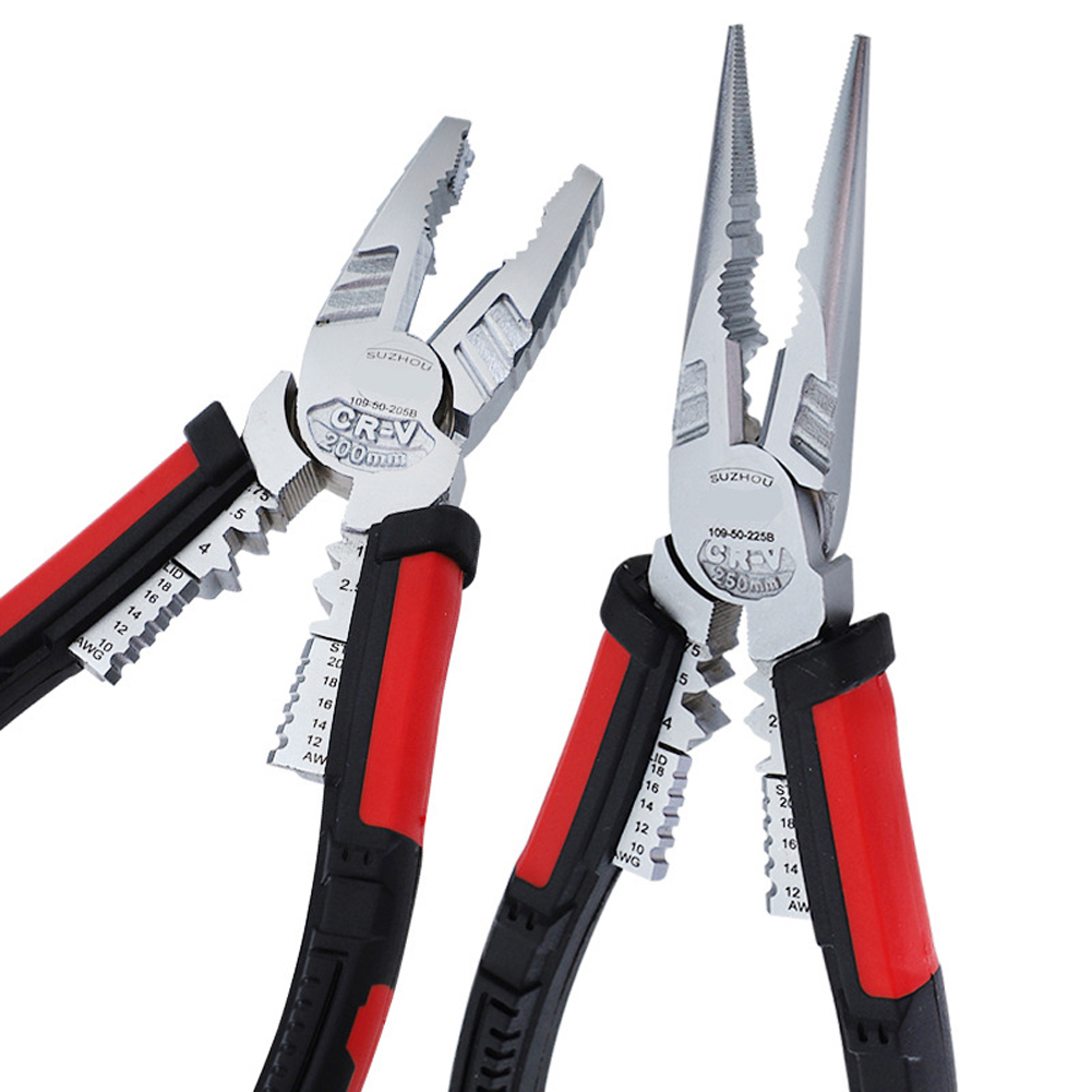 7-in-1 Electrician Multi-function Pliers Crimping Pliers Wire Stripping Cable Hand Tools Wire Cutter Needle Nose Pliers Cutters