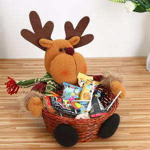 Storage Basket Christmas-Candy-Box Decoration for Hot-Sale Santa-Claus