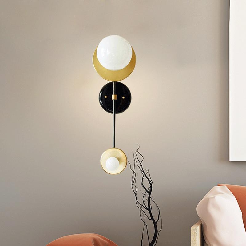 Скандинавский минималистичный фон для гостиной, настенный светильник, японский современный прикроватный светильник для спальни, дизайнер