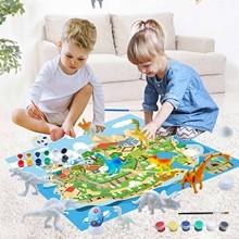 DIY kolorowanki do malowania zwierząt dinozaur pusty Model Doodle dinozaur malowanie mata do gry zestaw rysunek Graffiti dzieci zabawki dla dzieci tanie tanio CN (pochodzenie) Papier Unisex Rysunek zabawki zestaw 3 lat