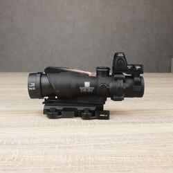 Зеркало для винтовки TA31 Trljicon ACOG, реальный волоконно-оптический прицел, с красной точкой RMR, линза Killflash, протектор прицела,