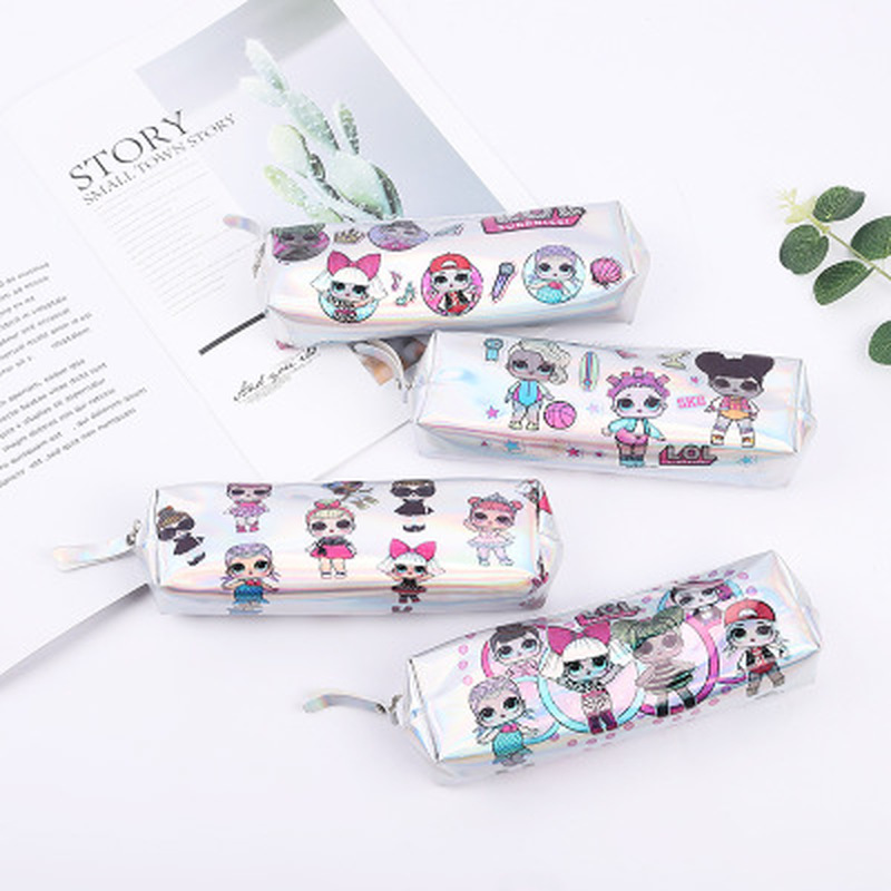 1pcs Little Girl Pencil Case Novelty Stationery Pen Case High Capacity Kawaii Bag Student Cute Pencil Bag Kawaii School Supplies