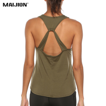 Tank-Tops Fitness t-Shirt Yoga Running-Vest Athletic Workout Backless Sexy Quick-Dry