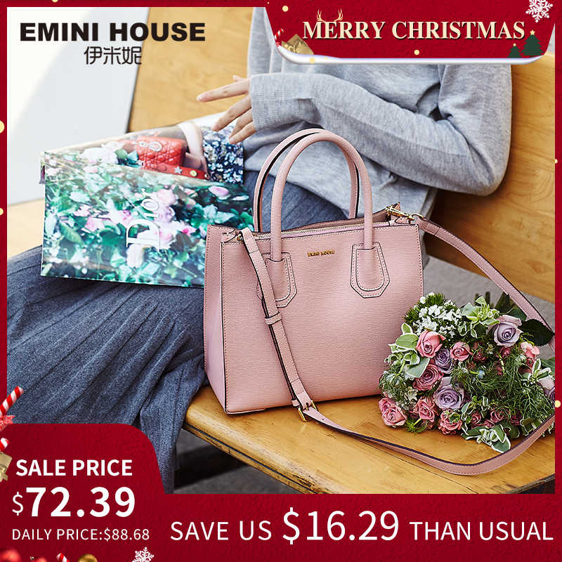 EMINI HOUSE Tote Bag Split Leather Luxury Handbags Women Bags Designer Crossbody Bags for Women Shoulder Bags Lady Handbags
