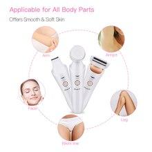 3 In 1 facial epilator electric female epilator leg body face hair removal depilatory mini lady shaver bikini trimmer depilator