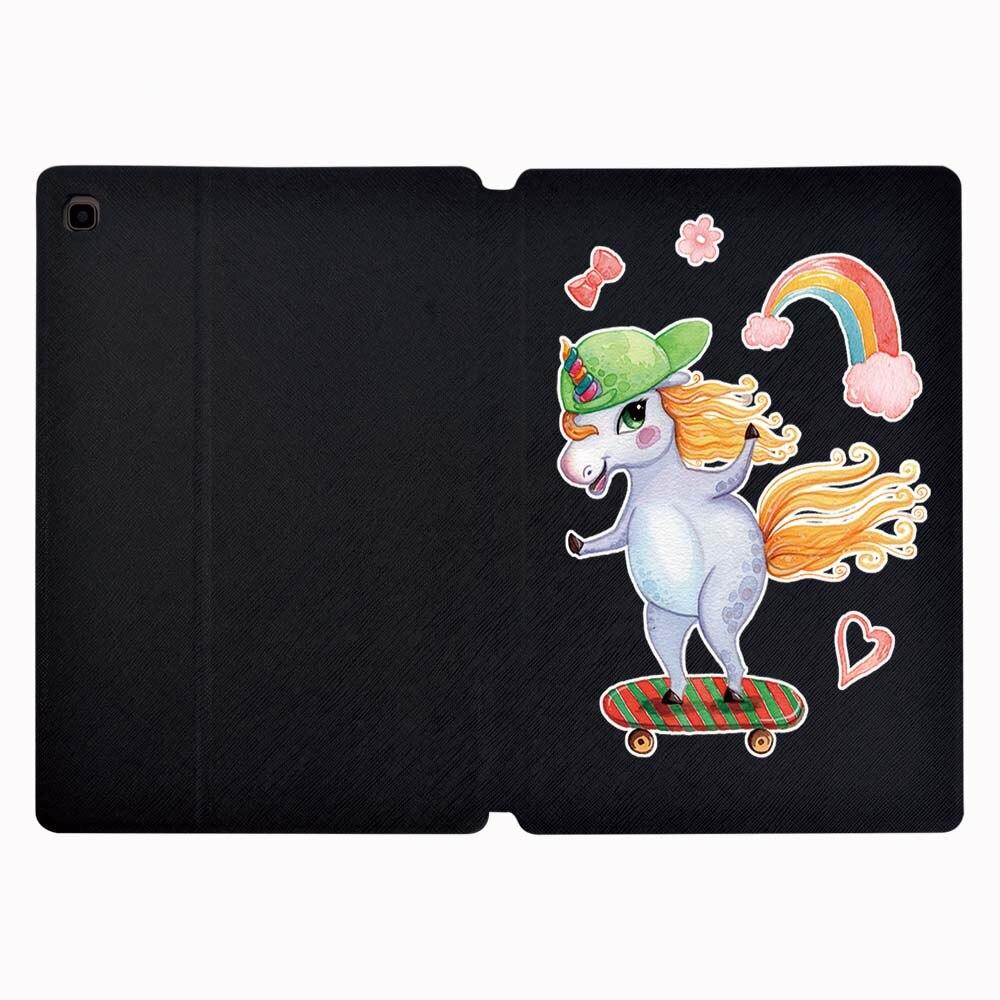 Складной чехол-подставка чехол для планшета Samsung Galaxy Tab A A6 7,0 10,1 дюймов/A 9,7 10,1 10,5 Inch/Tab E 9,6 дюйма/Tab S5e 10,5 дюймов + подставка для ручек-3