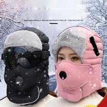 Casquette d'hiver pour hommes et femmes, nouvelle mode, chapeau chaud, Design Original, pour l'extérieur, étanche, avec lunettes, cagoule Cool