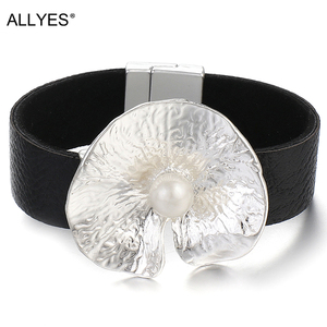 ALLYES Round Metal Leather Bra