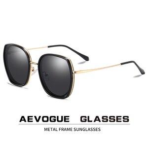 Image 1 - AEVOGUE ใหม่แฟชั่นผู้หญิงรูปหลายเหลี่ยมแว่นตากันแดด Polarized กรอบแว่นกันแดดขนาดใหญ่กลางแจ้งขับรถ Gradient เลนส์แว่นตา UV400 AE0833