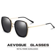 Aevogue 新ファッション女性ポリゴン偏光サングラスビッグフレーム旅行屋外駆動勾配レンズメガネ UV400 AE0833