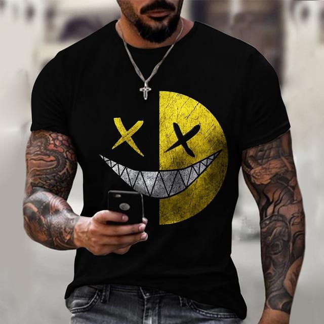 3d Printed t-shirt fashion men's street casual sports shirt male O-neck 2