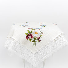 Dinning Lace Table runner Flower Embroidery Design Tissue Box Square Rectangle Tablecloth