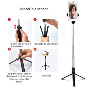 Image 4 - Wireless Bluetooth Selfie Stick Tripod Extendable Handheld Monopod Foldable Mini Tripod With Shutter Remote For iPhone Android