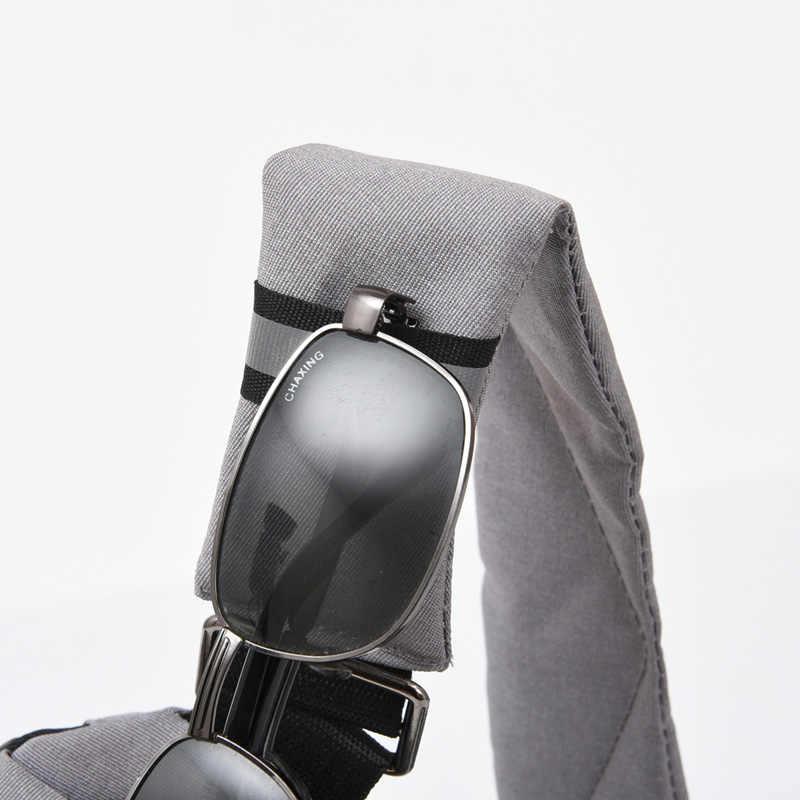 FengDong رقيقة جدا مكافحة سرقة حقيبة صدر للرجال صغيرة عبر الجسم حقائب عاكسة قطاع حقيبة ساعي بريد للرجال الكتف الرياضة حقيبة حزمة