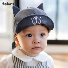 Hepburn Brand Cotton Baby Hat Spring Visor Kids Cap dinosaur Baseball Hats Children Unisex soft Toddler For 3-12 months