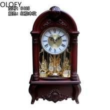 Luxury Pendulum Wall Clock Chinese Wood Large Retro Desk Wall Clock American Reloj De Pared Farmhouse Decor Alarm Clock Wooden(China)