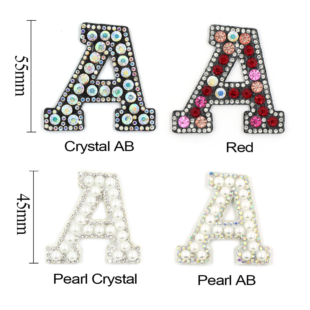 ALPHABET LETTERS EMBROIDERED IRON ON BADGE SEW ON PATCH RED A-Z APPLIQUE
