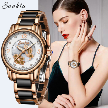 SUNTKA Elegant Woman Watch Luxury Brand Female Wristwatch Waterproof Japan Quartz Watches for Women Girl Clocks Relogio Feminino shifenmei watches women luxury brand waterproof fashion watches quartz watch woman leather wristwatch for girl relogio feminino