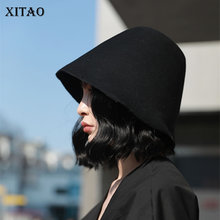 [XITAO] dzikie Joker moda nowe kobiety kapelusze wiadro kobiet jednolity kolor dorywczo powrót do przeszłości kapelusze Campaniform ZLL3001