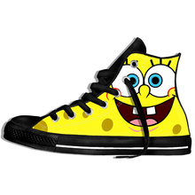 2019 Cute Series Sponge Bob 3D sneakers Printed Sport Style casual shoes