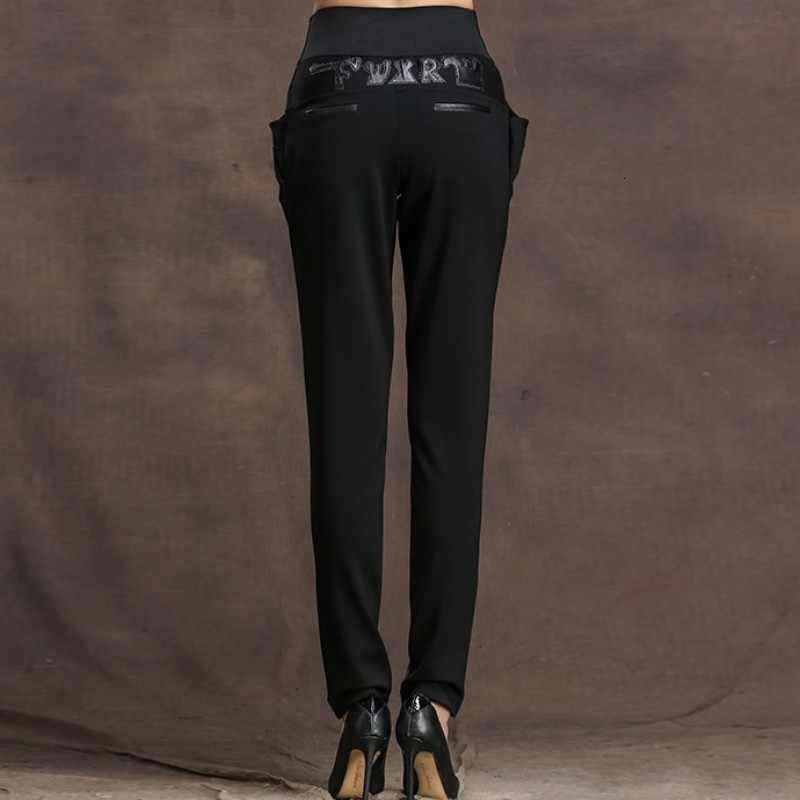 Mode Vrouwen Lederen Real Ontvangst Terug Broek Kantoor Vrouwen Sexy Size Hoge Potlood Broek Real Big Size 5XL Broek