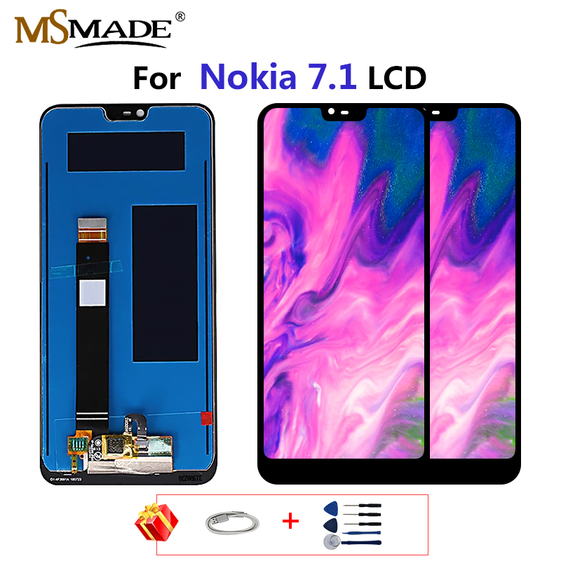 Original For Nokia 7.1 LCD Display Touch Screen For Nokia TA 1085 TA 1095 TA 1096 TA 1100 LCD Digitizer Replacement Parts 5.84'