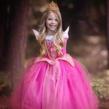 Girls Dress Christmas Anna Elsa Cosplay Costume Dresses Girl Princess Elsa Dress for Birthday Party Children Kids Clothing