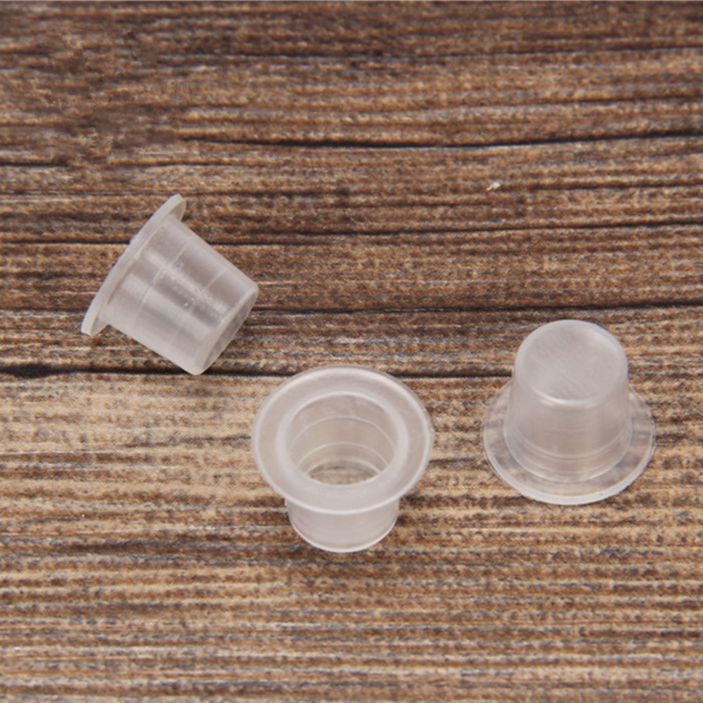Tattoo Ink Cup Cap Pigment Clear Holder Container Plastic Microblading S/M/L For Cartridges Needle Tip Grip Tattoo Accessories