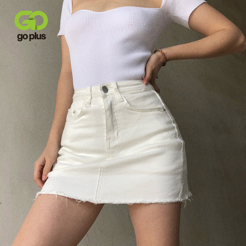 GOPLUS Women Denim Shorts Skirts High Waisted Shorts Black White Summer Clothes Mujer Female Jeans Spodenki Ropa Mujer C9806