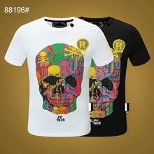 Italy Brand Fashion Men Short Sleeve 3D Printing Street Hip-Hop Style Men Plein Tshirt Black Tops Skull Sportswear Manche Courte