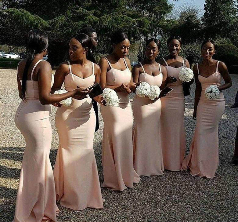 Cheap South African Backless Bridesmaid Dress Summer Long Garden Formal Wedding Party Guest Maid Of Honor Gown Plus Size