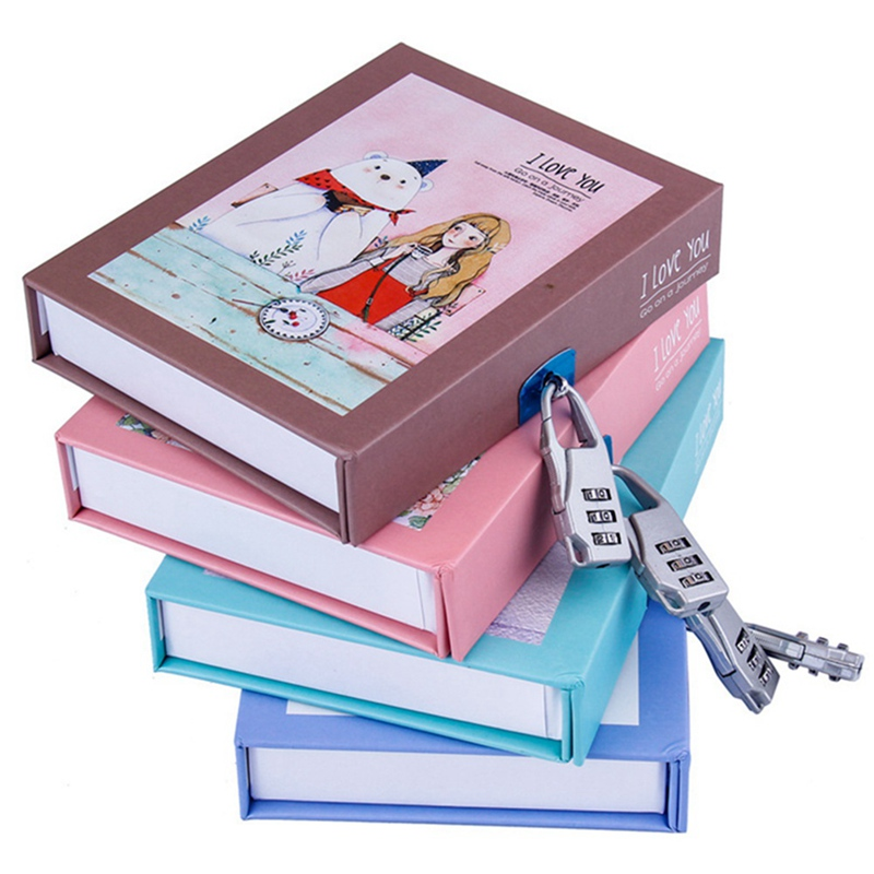 Cute Cat Diary Notebook Thicken Password Notebook With Code Lock Refillable Planner Organizer Kawaii Stationery Gift
