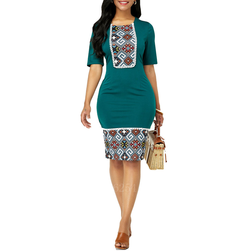 Fashion Ladies African Clothes 2020 Dashiki Print Summer Sexy Robe Africaine Clothing Plus Size African Dresses For Women Africa Clothing Aliexpress