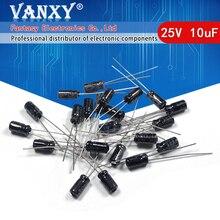 50 Uds alta calidad 25V10UF 4*7mm 10UF 25V 4*7 condensador electrolítico