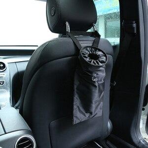 Image 1 - Huihom universal assento de volta do carro lixo pode lixo bin organizador assento volta crianças kick protector capa acessórios automóvel