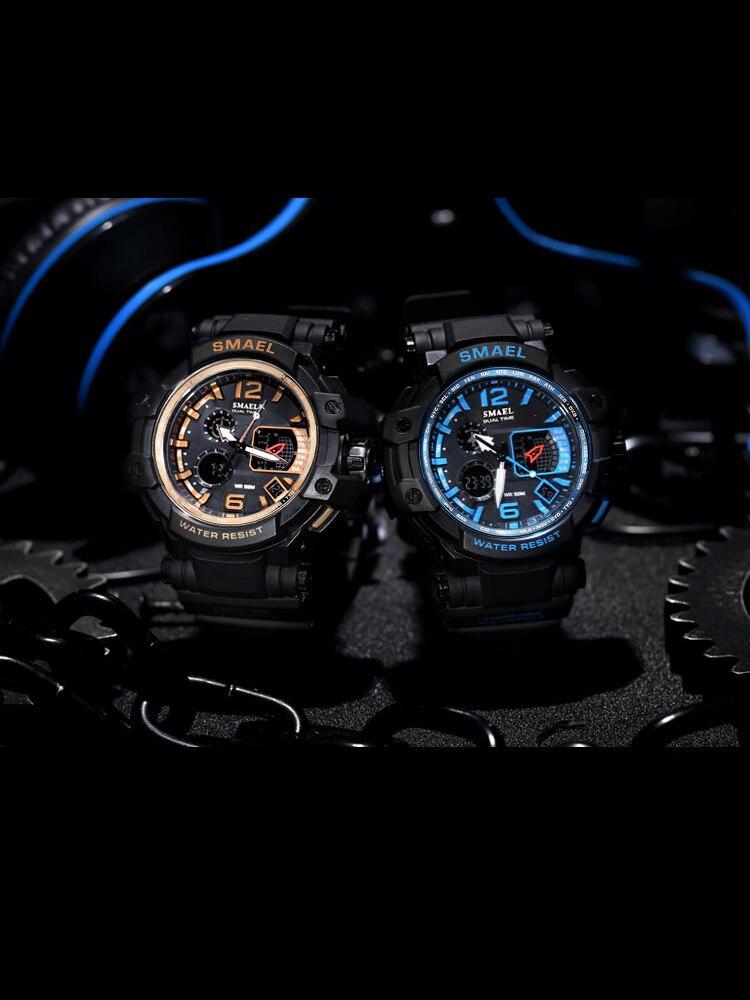SMAEL Men Watches Clock Digital S-Shock White Male Waterproof Relogios LED Sport 1509