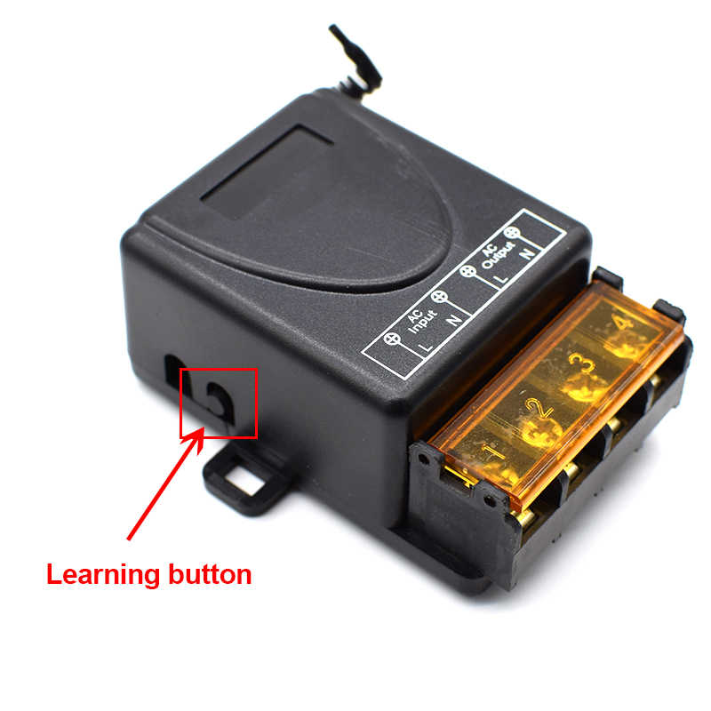 433 Mhz اللاسلكية RF التحكم عن بعد التبديل التيار المتناوب 220 فولت 1CH 30A التتابع استقبال و 2 قناة 433 Mhz عن بعد لمضخة المياه