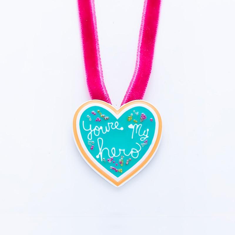 You're My Hero colliers avec pendentif médaille, épave, costumes Ralph Vanellope, en cordes Cosplay, à la mode, bijoux cadeau pour filles