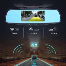 מלא HD 1080P אוטומטי 4.3 אינץ כפול עדשת רכב DVR מבט אחורי מראה הדיגיטלי Dash וידאו מצלמה למצלמות אביזרי רכב