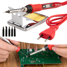 Electric LCD Soldering Iron 220V 80W Adjustable Temperature Solder Welding Rework Repair Tools Quality Soldering Iron Tips Kits