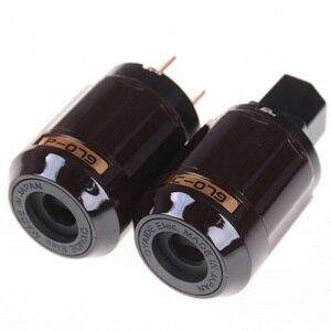 Image 2 - Oyaide Gold Plated C 079 IEC Female P 079 Male US Power plug Audio Connector Hifi DIY MATIHUR Audio hifi1 Pair