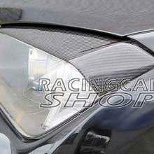Real Carbon fiber Head light Eyelid Eyebrow lines For BMW X1 E84 2009UP B336E